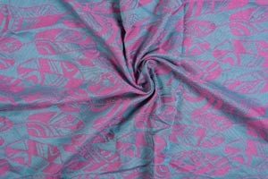 Yaro Four Winds Fuchsia Aqua Glossy Tencel